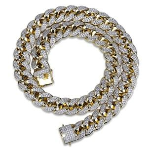Other - 18in 18mm 18K Gold Plated Iced Out Chain Miami